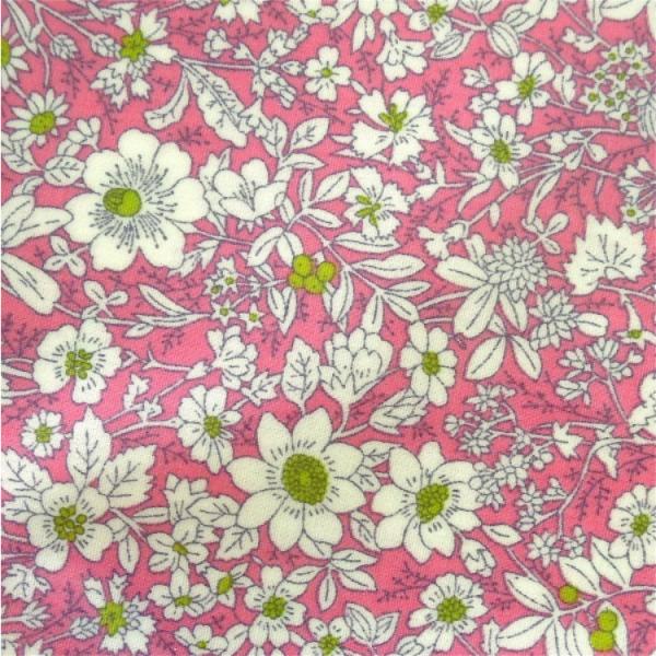Wachstuch Streublumen rosa-grün