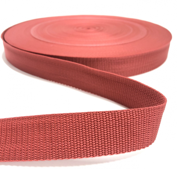 Gurtband Polypropylen brique, 30mm breit
