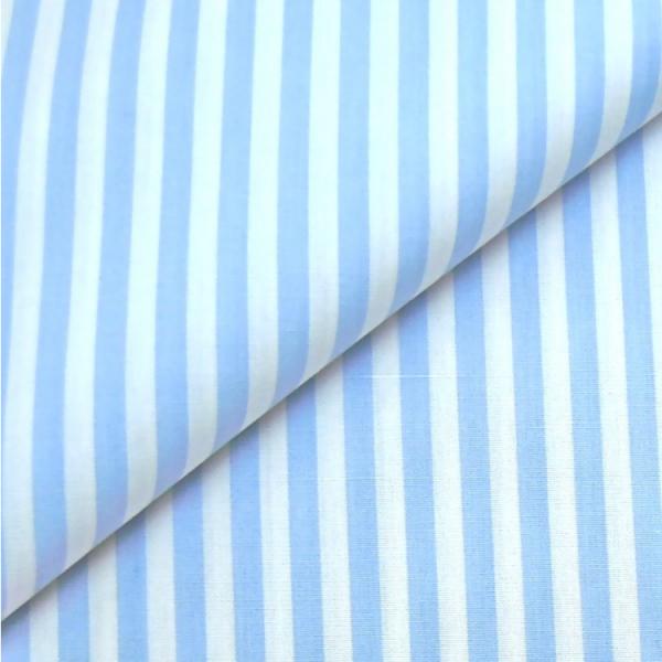 Baumwollwebware, Streifen hellblau-weiß