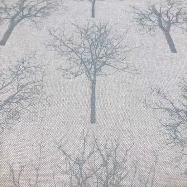 Canvas Leinenoptik mintfarbene Bäume