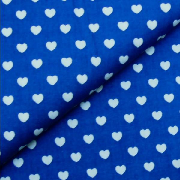 Herzen royalblau-weiß