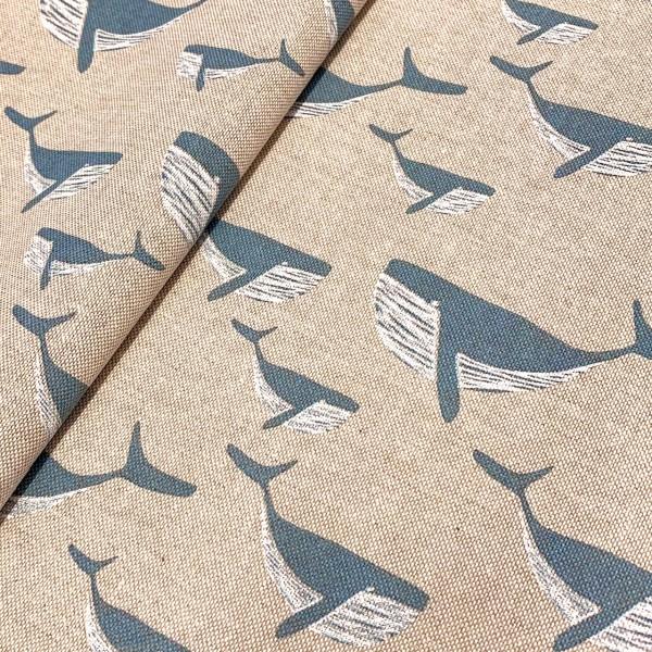 Dekostoff Wale auf natur
