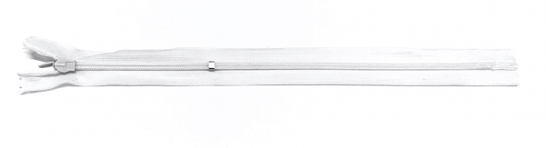 nahtverdeckter Reißverschluss, 25cm, verstellbar, weiß