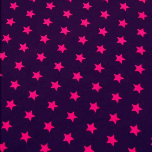 Jersey Sterne violett-pink