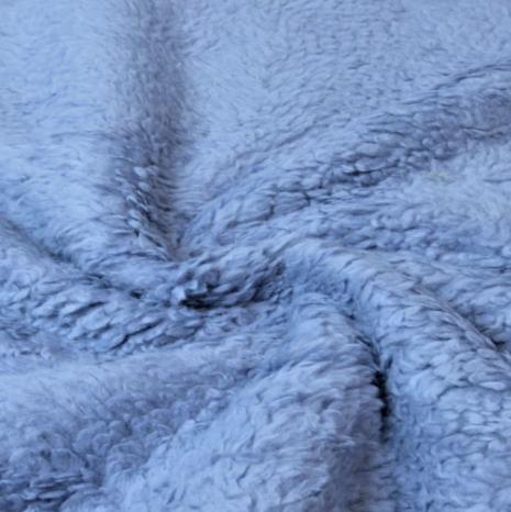 Teddyplüsch (Baumwolle) jeansblau