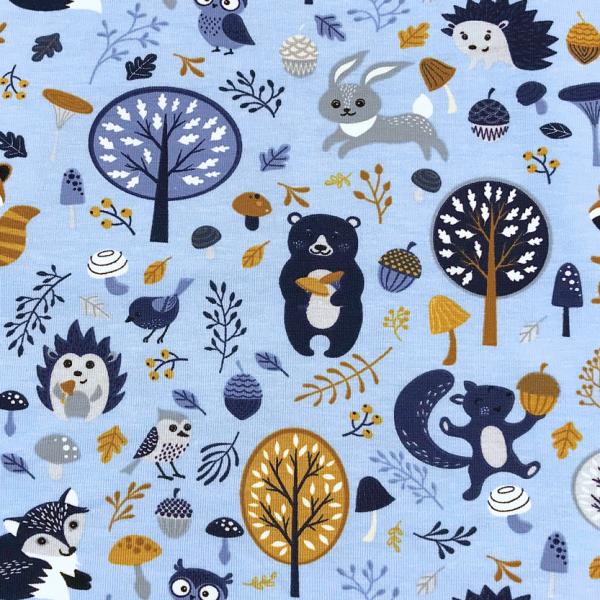 Jersey hellblau Waschbär, Igel & seine Freunde