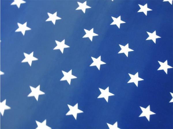Wachstuch Sterne blau