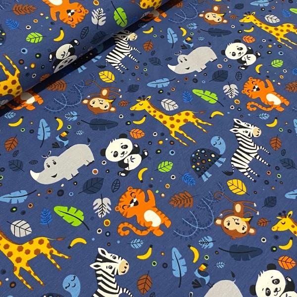 Jersey Zoo-Tiere dunkelblau
