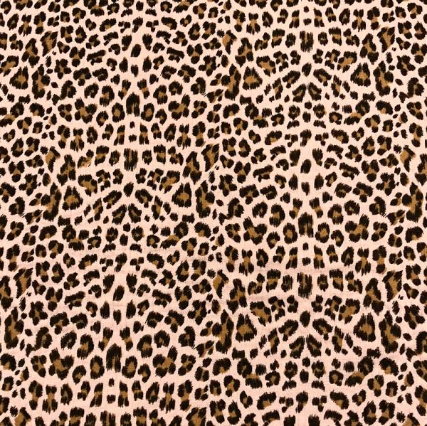 Musselin Leoparden-Muster zartrosa