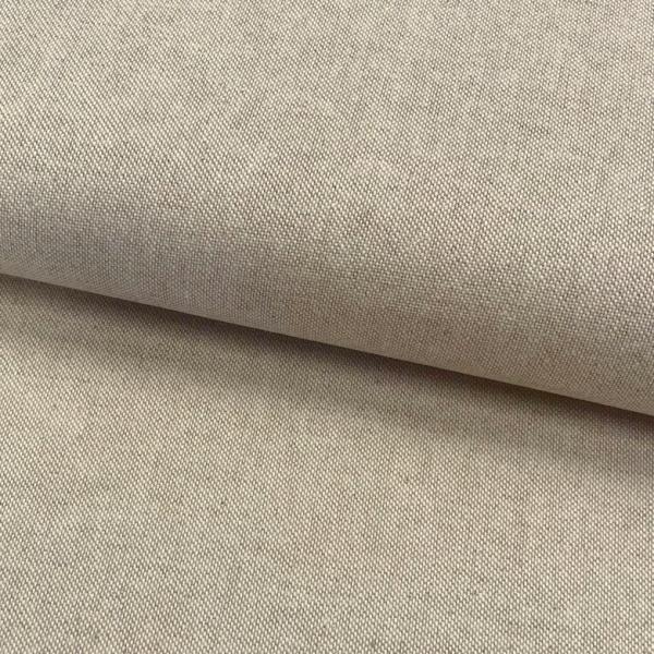 Canvas Leinen-Optik uni beige Baumwolle