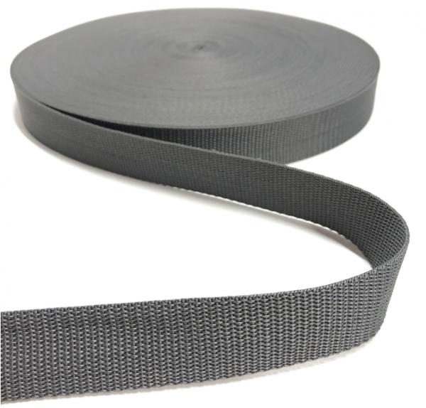 Gurtband Polypropylen dunkelgrau, 30mm breit