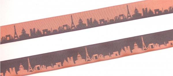 Webband Paris rosa-grau