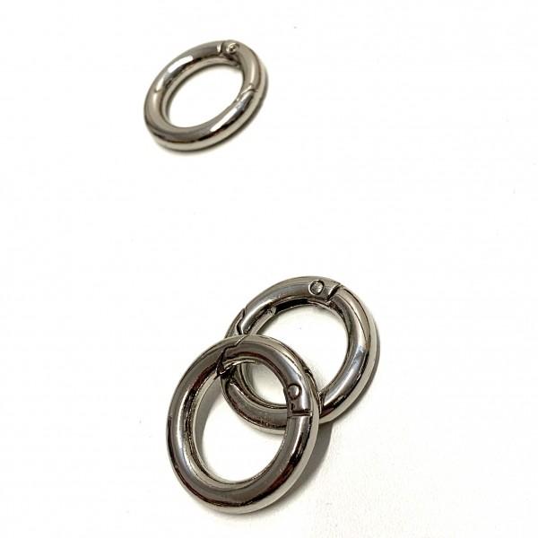 Karabiner-Ring, silber, 20mm
