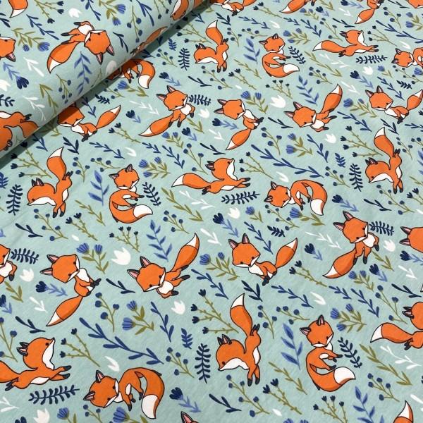 Jersey Cute Fox mint