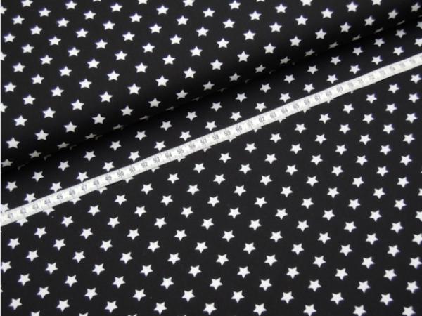 2 Größen Sterne: schwarz-weiß