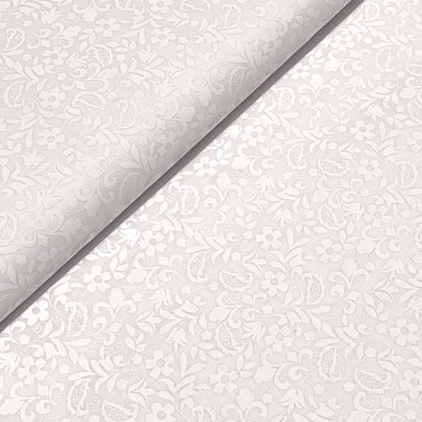 Große weiße Ranken auf weiß 100%BW Oeko-Tex