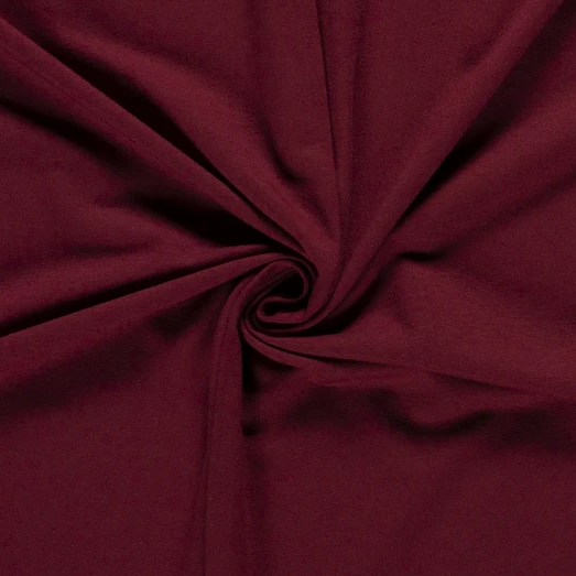 French Terry Uni dunkelrot 250 g/m2 1,5m breit ÖkoTex 100