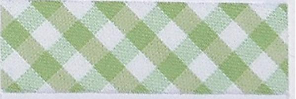 5m Schrägband Vichy-Karo 2mm hellgrün (67)