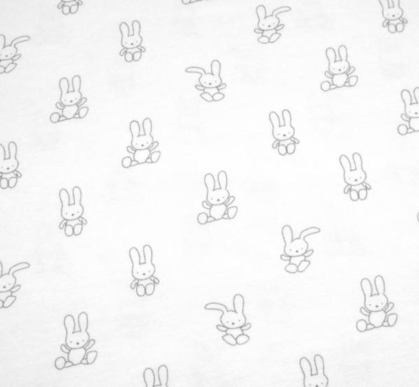 Jersey Hasen Nuff Nuff weiß-grau