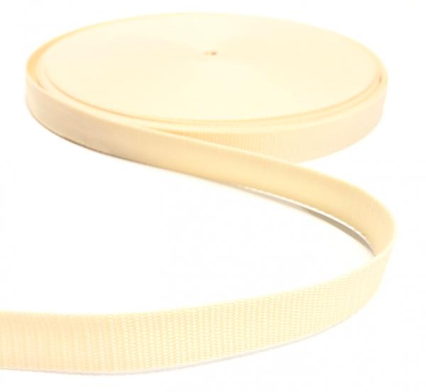 Gurtband Polypropylen wollweiß, 25mm breit