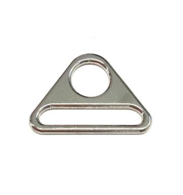 Dreieck Schnalle für 40mmm Gurtband, silbern