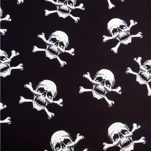 Totenköpfe schwarz-weiß
