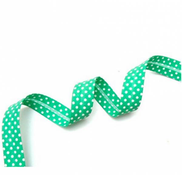 5m Schrägband Punkte grüntürkis (67)