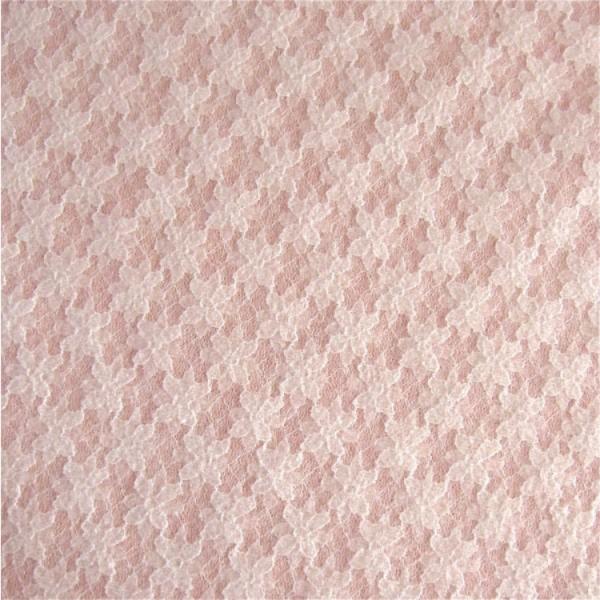Spitze auf Strickstoff rosa-weiß