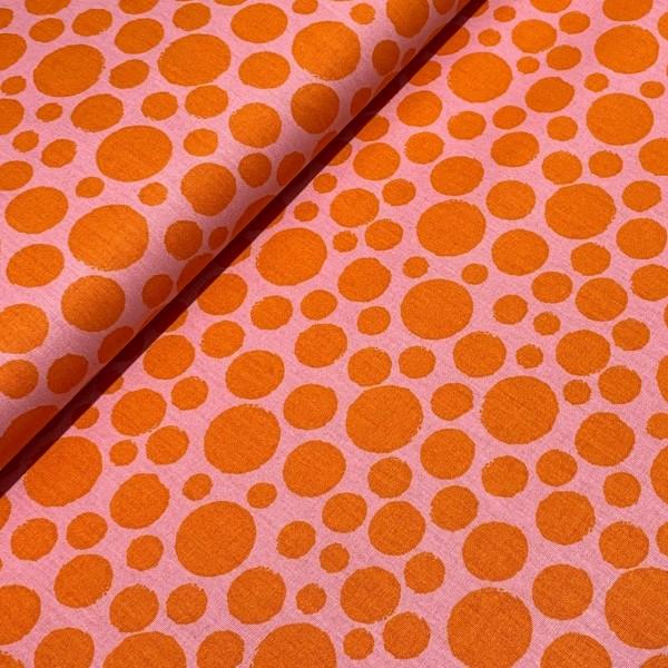 Big Dot rosa-orange 100%BW Oeko-Tex