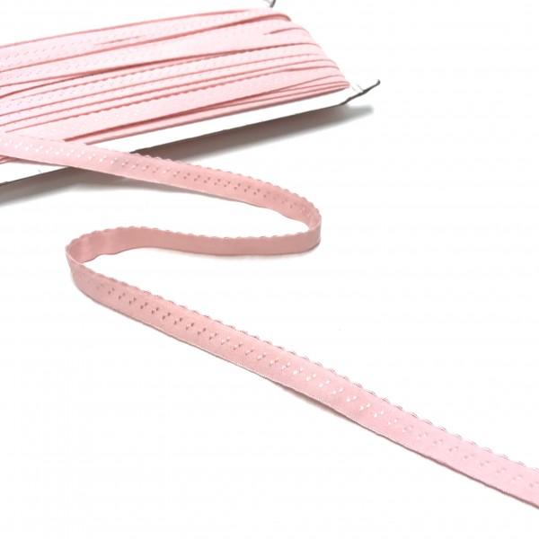 Elastisches Einfassband, Wäschegummi, rosa