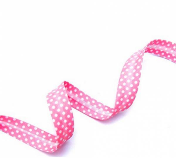 5m Schrägband Punkte rosa (32)