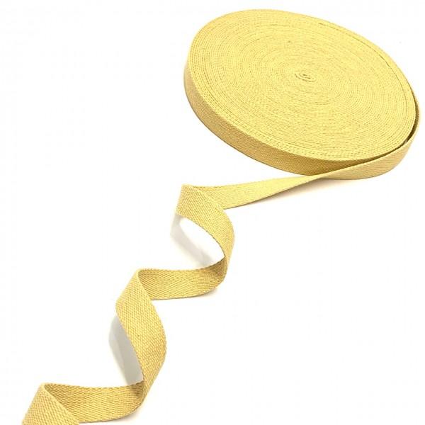 Gurtband BW 2,5cm breit, gold-gelb