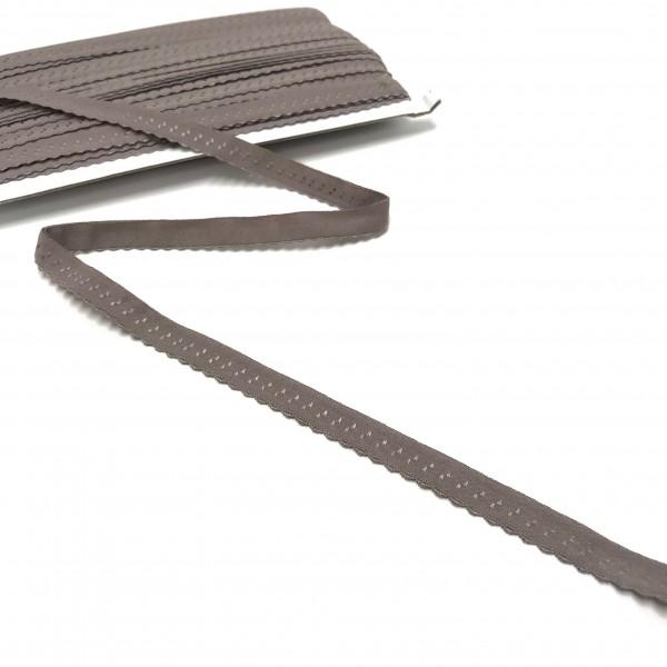 Elastisches Einfassband, Wäschegummi, taupe