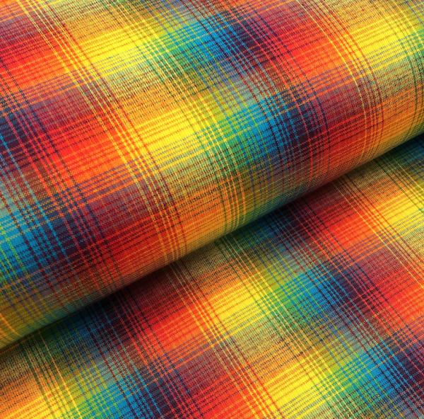 Regenbogen-Baumwollkaro