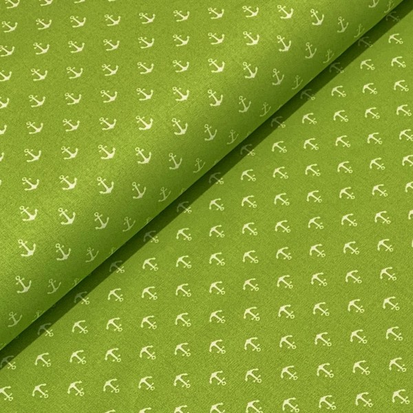 Mini Anker hellgrün-weiß 100%BW