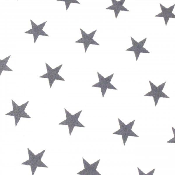 Sterne, ca.2cm, weiß-grau