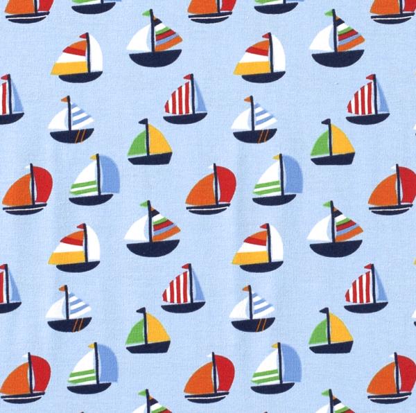 Jersey Segelboote hellblau