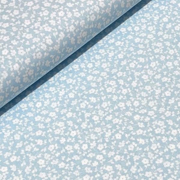 Streublumen hellblau-weiß 100%BW
