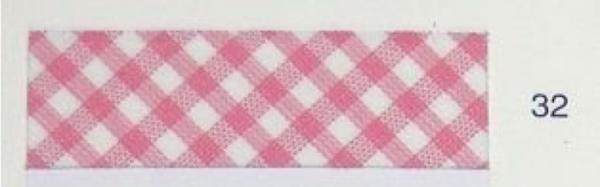 5m Schrägband Vichy-Karo 2mm rosa (32)