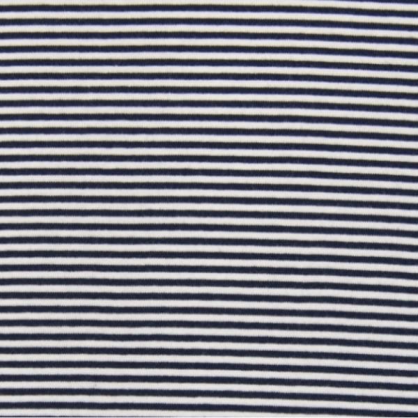 Bündchen-Schlauch Ringel dunkelblau-weiß