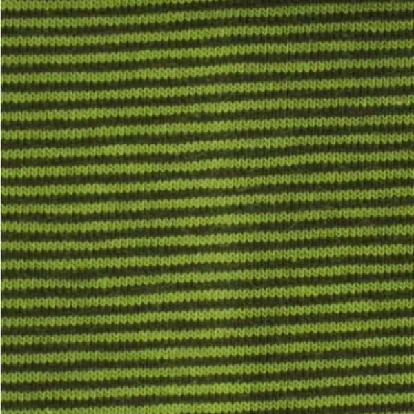 Bündchen Mini-Streifen grün