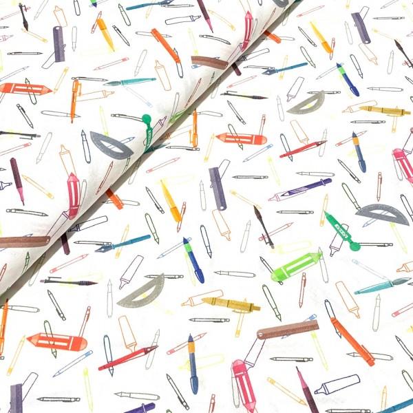 Bunte Stifte auf weiß 100%BW